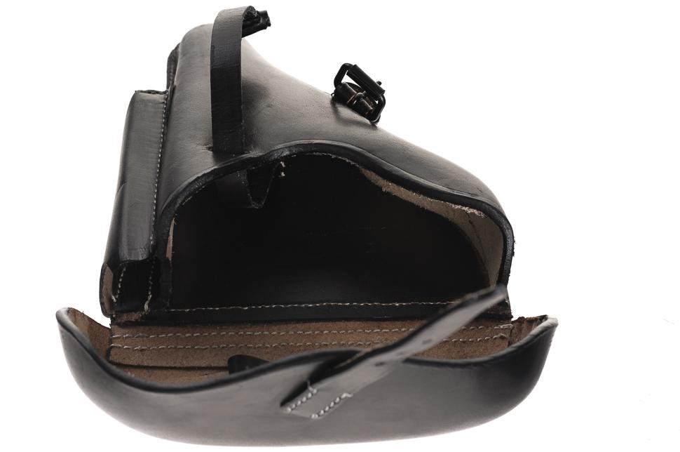 MILTEC Pouzdro na pistol P08 hard (repro) kožené černé