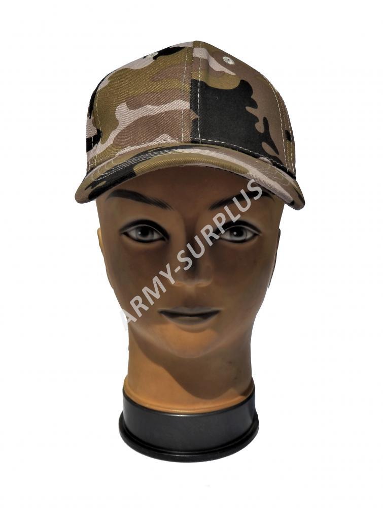 ČÍNA Čepice kšiltovka dětská maskovací Camo Safari