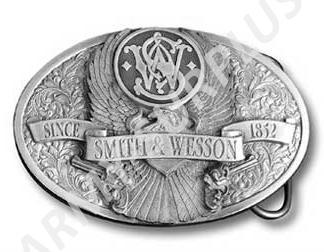 ČESKÝ VÝROBCE Přezka na opasek Western Smith and Wesson - starozinek B0940s