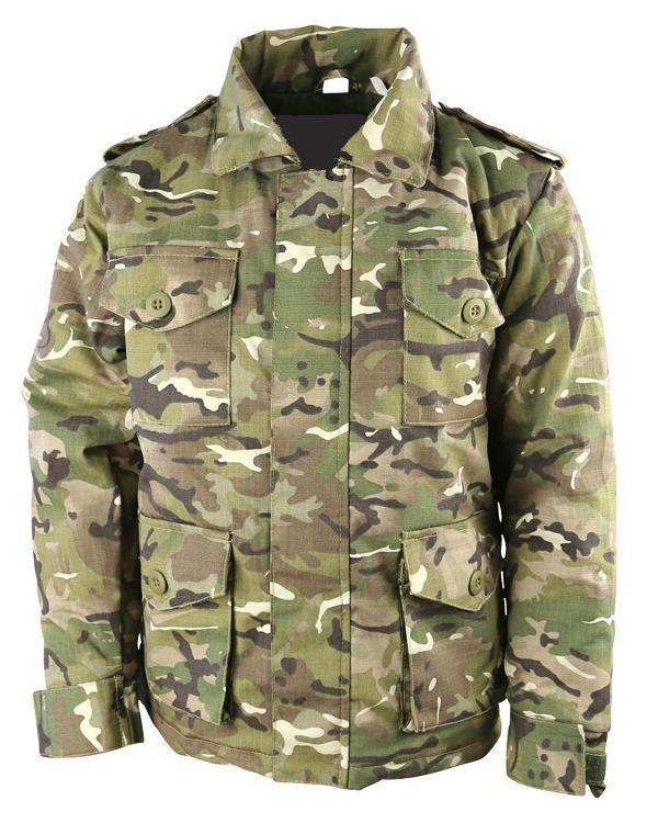 KOMBAT UK Polní kabát Safari (bunda) dětský BTP multicamo ripstop Velká Británie Kombat Vyberte velikost: 5-6 let