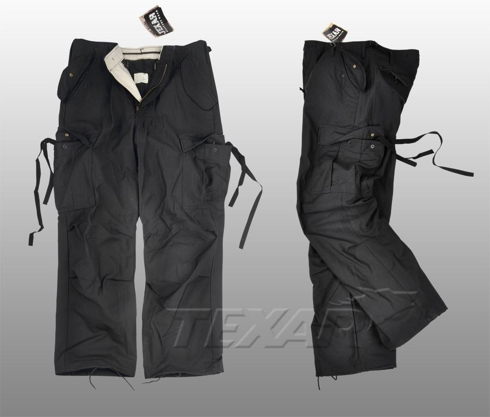 Kalhoty polní M65 černé Texar Velikost: Small-Regular