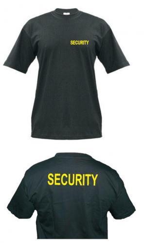 DIVJA Tričko (triko) potisk SECURITY Velikost: XXL
