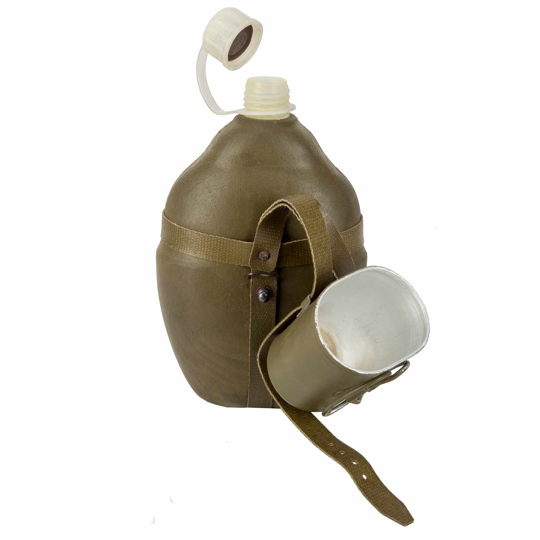 ARMÁDNÍ ORIGINÁL NVA Polní láhev (čutora) NVA termo originál Varianta: pitítko s držákem