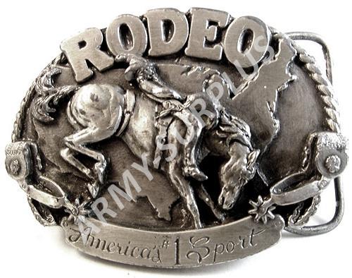 ČESKÝ VÝROBCE Přezka na opasek Western RODEO - starozinek B0968