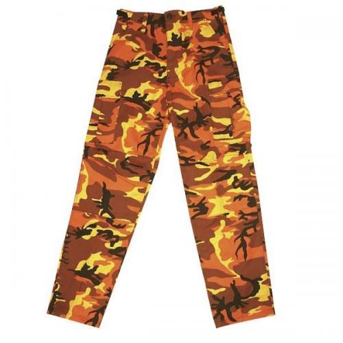 Kalhoty BDU camo orange MMB Velikost: L