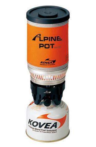 Vařič ALPINE POT KOVEA na plynové kartuše přenosný outdoorový camping UKP06009