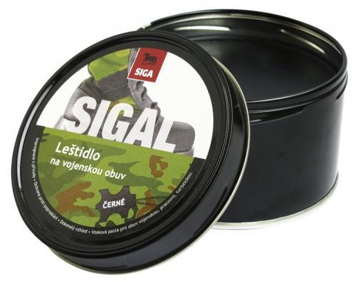 SIGA Leštidlo na obuv vojenské černé 250g krém SIGAL