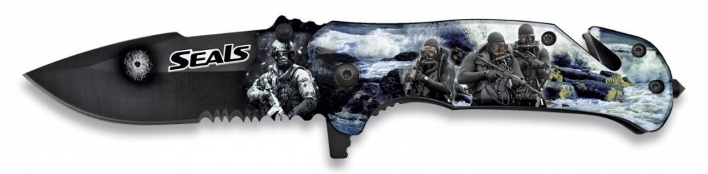 Nůž zavírací záchranář SEALS 3D polovystřelovací ALBAINOX 18131-A