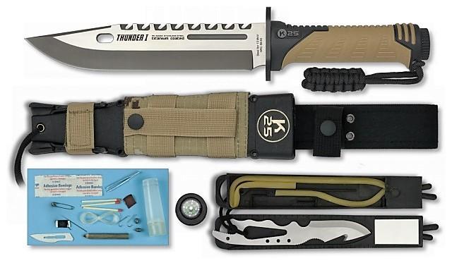 RUI / K25 Nůž Tactical RUI Thunder I Survival Energy coyote digital desert 32018