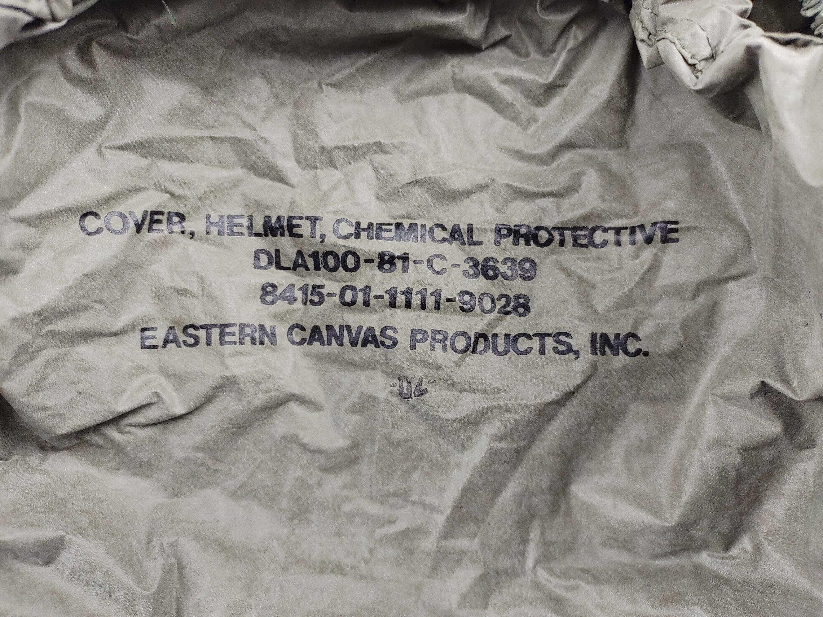 Potah protichemický (povlak,obal,převlek) na helmu US