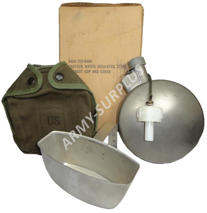 ARMÁDNÍ ORIGINÁL US ARMY Polní láhev (čutora) US ARMY termo nerez s pitítkem a obalem (ARCTIC CANTEEN) Varianta: zánovní