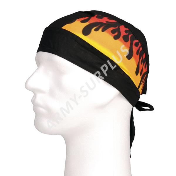 Šátek pirát (na hlavu) plameny 2 černý 59203239aa