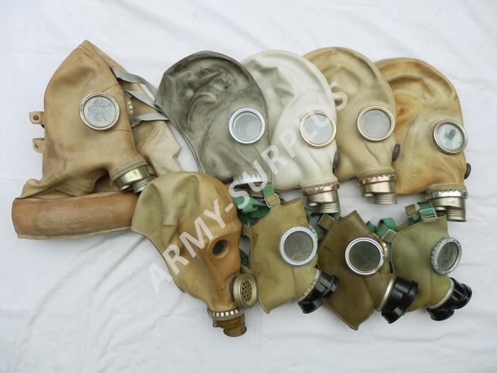 ARMÁDNÍ ORIGINÁL Plynová maska Postapo nebo na náhradní díly Typ masky: OM-14