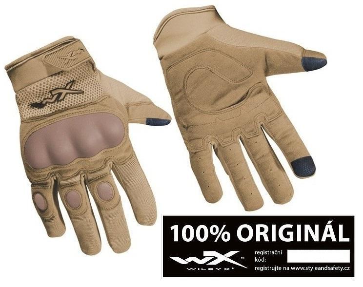 WILEY X® Taktické rukavice Wiley X Durtac SmartTouch Tan Coyote originál Velikost: S