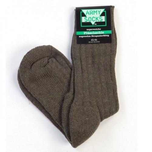 ČÍNA Ponožky zimní army froté Velikost: 39-42