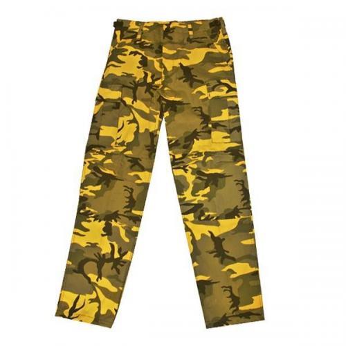 MMB Kalhoty BDU camo žluté yellow Velikost: L