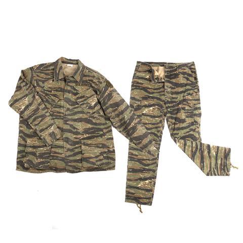 Komplet US tiger stripe Vietnam ripstop (kalhoty,blůza) Fostex repro Velikost: M