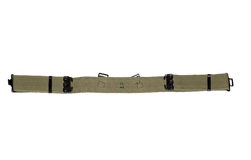 ARMÁDNÍ ORIGINÁL UK VELKÁ BRITÁNIE Opasek britský M37 Velká Británie kovová spona Vyberte velikost: 2 (do 100cm)