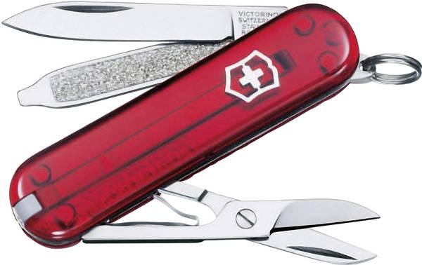 Victorinox Classic SD červený transparentní kapesní zavírací nůž multifunkční