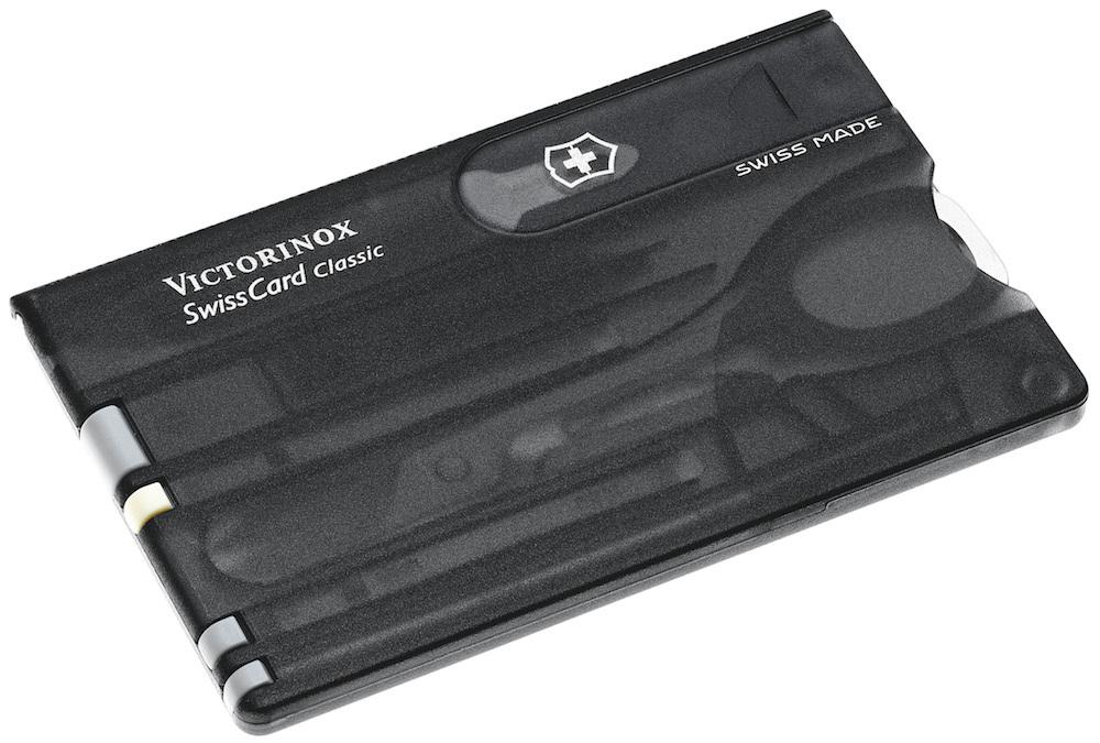 Victorinox SwissCard Classic multifunkční karta na přežití černá