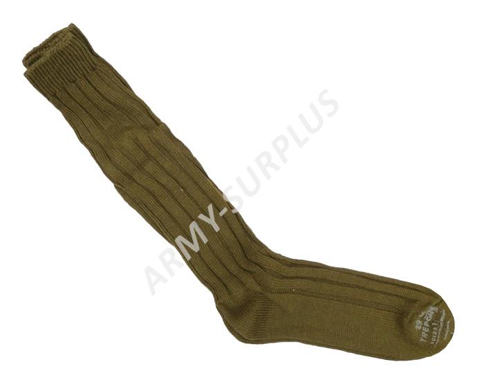 Podkolenky (ponožky) ČSLA zimní pletené oliv Velikost  28 8 ac4dfc345a