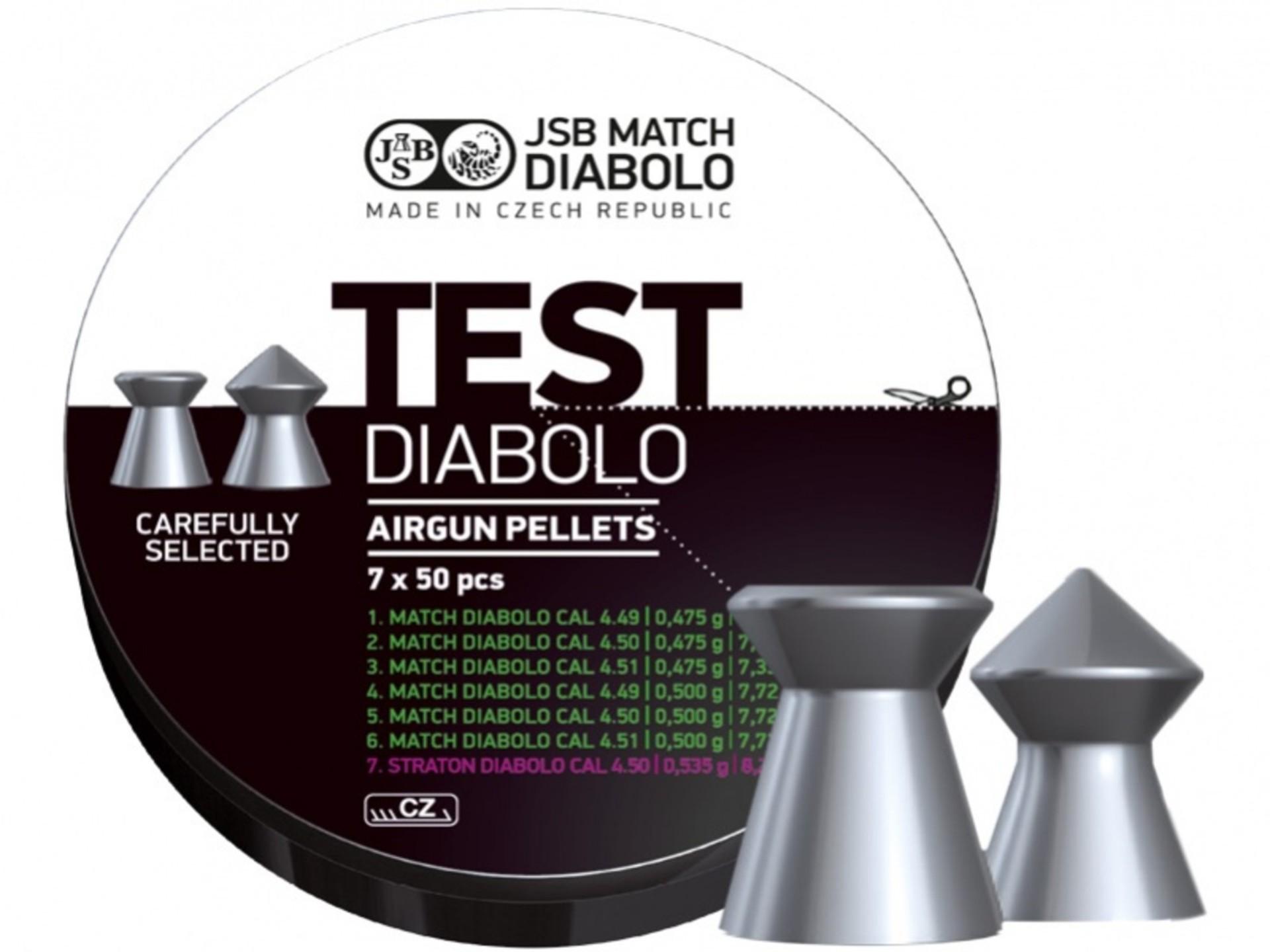 JSB MATCH DIABOLO A.S. Testovací sada diabolek Match JSB TEST 350 ks cal. 4,5 mm pro vzduchové pistole