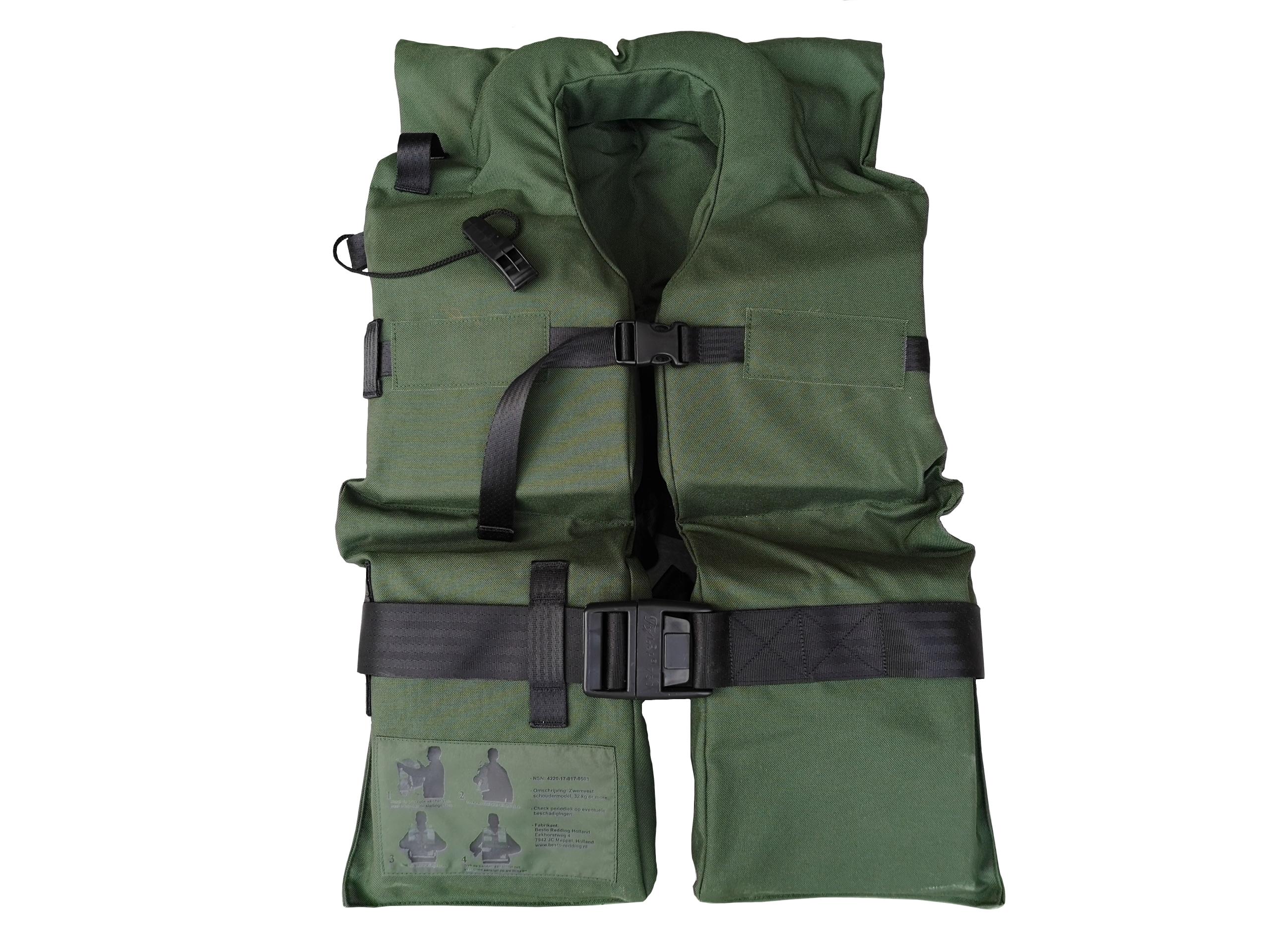ARMÁDNÍ ORIGINÁL HOLANDSKO Záchranná plovací vesta Besto Holandsko zelená originál