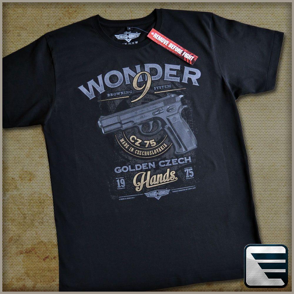 MARS & ARMS tričko s potiskem WONDER 9 CZ 75 Velikost: L