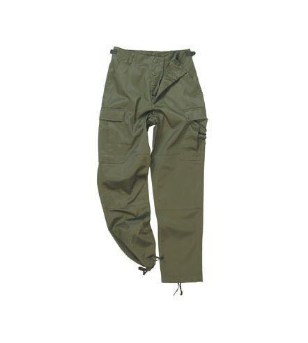 ČÍNA Kalhoty oliv BDU kapsáče Velikost: L