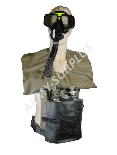 ARMÁDNÍ ORIGINÁL Evakuační přístroj ATE-1 pro obrněná vozidla (plynová maska) Varianta: bez potápěčských brýlí
