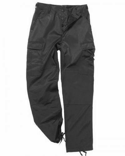 ČÍNA Kalhoty černé kapsáče BDU Velikost: L