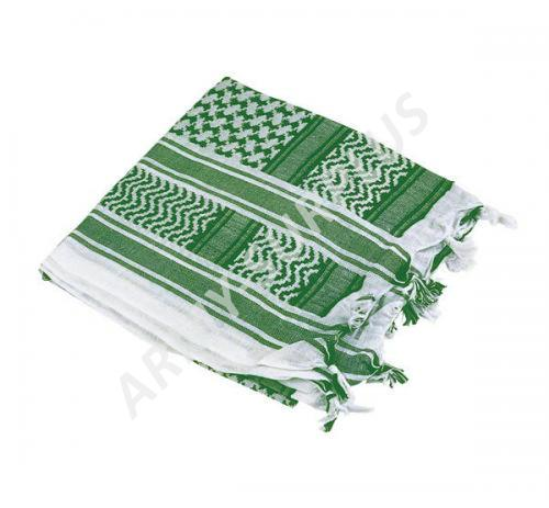 72d44d9d344 MMB Šátek palestina bílá světle zelená (shemagh