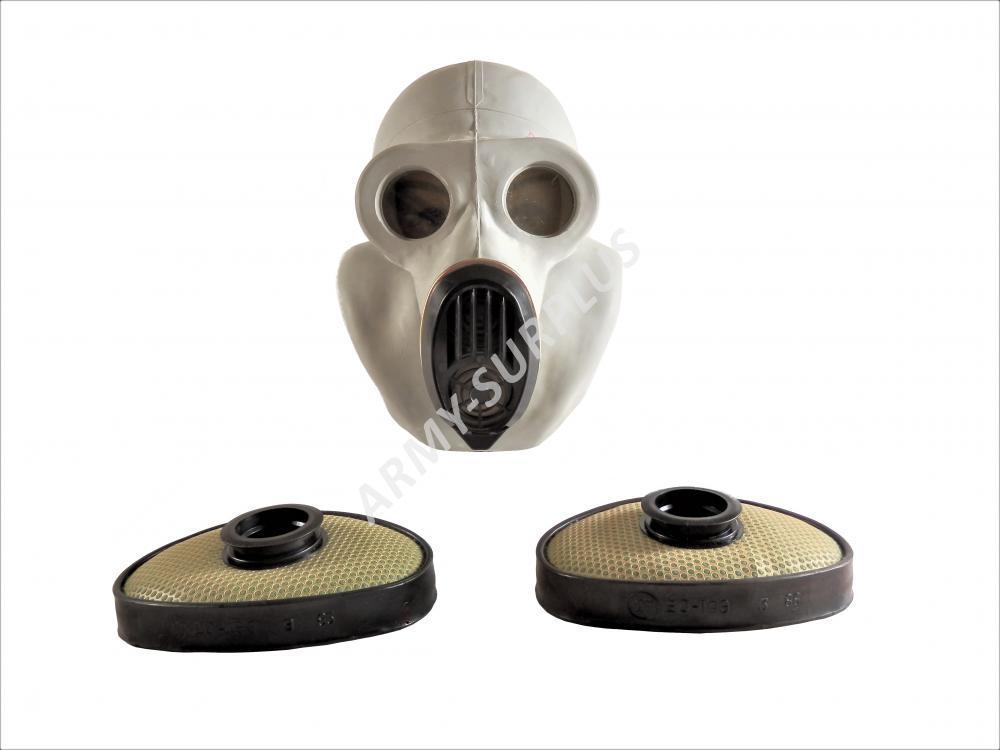 ARMÁDNÍ ORIGINÁL RUSKO Plynová maska Rusko NBC PBF světlá (gorila) EO-19 Velikost: 0