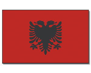 PROMEX Vlajka 90 x 150 cm Albánie č.224