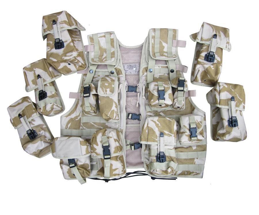 Taktická vesta britská LCTW Velká Británie desert DPM nová original
