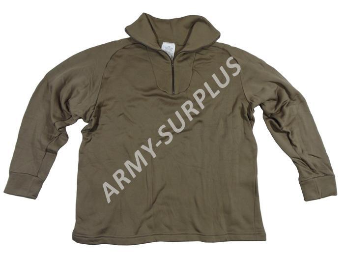ARMÁDNÍ ORIGINÁL US ARMY Triko ECWCS termo US polypropylen na zip hnědé original Velikost: Large