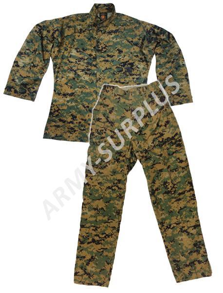 ARMÁDNÍ ORIGINÁL US ARMY Komplet USMC woodland marpat MCCUU originál Velikost kalhot: Small-Long, Ve