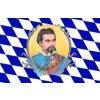 Vlajka 90x150cm Bayern (Bavorsko) Konig-Ludvig-II č.18