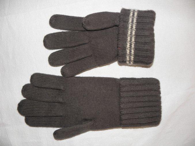 Pletené rukavice s velikostními proužky