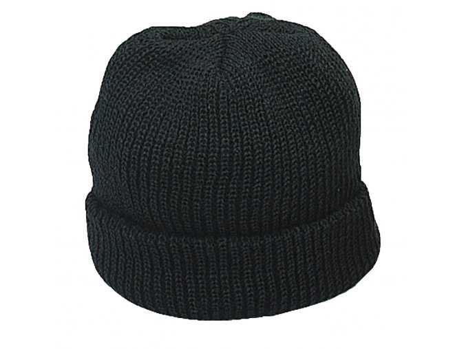 Čepice Černá pletená