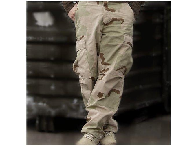Kalhoty v potisku pouštním 3D US