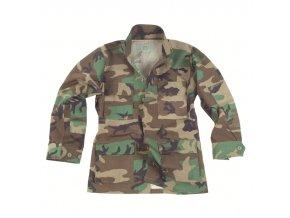 mil tec maasto takki us army bdu field jacket woodland orig