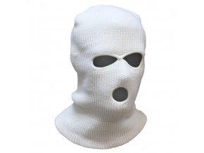 kukla pletená bílá
