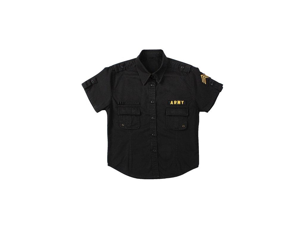 Košile dámská BDU US ARMY VINTAGE ČERNÁ