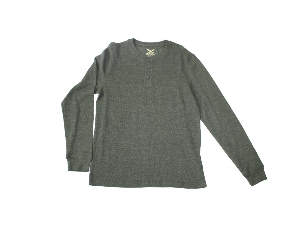 Triko pánské s dlouhým rukávem Faded Glory - zelené - Army Zboží 261e629060
