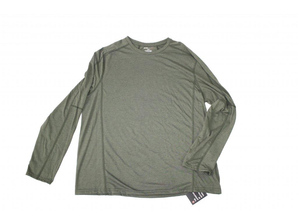 Triko pánské s dlouhým rukávem Swiss Tech - zelené - Army Zboží 4a9b22ff2c