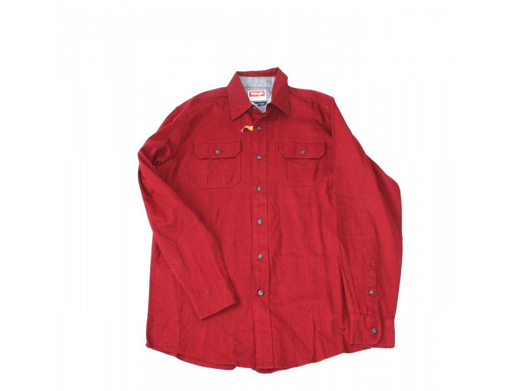 719f06133d1 Košile pánská Wrangler dlouhý rukáv Stretch Twill - červená - Army Zboží