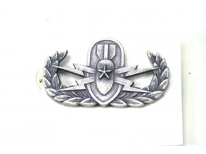 Odznak US pyrotechnik qualification explosive ordinance disposal senior