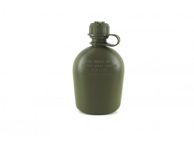 Polní láhev bez obalu US s ventilem na masku - oliv