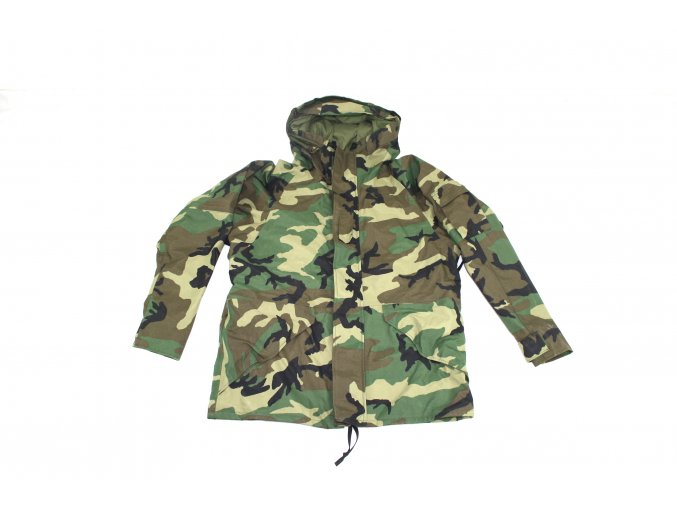 Parka, bunda ECWCS v provedení Gore-tex  Cold Weather, Universal Camouflage- woodland